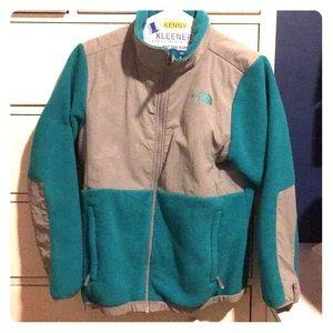 Blue/Green XL Zip up North face Jacket